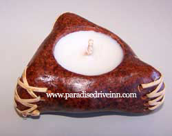 Bali Triangle Terracotta Candle
