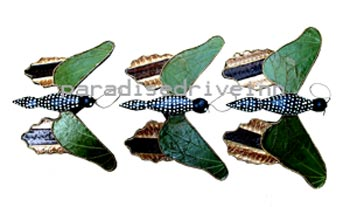 Bali Set of 3 Wooden Butterfly