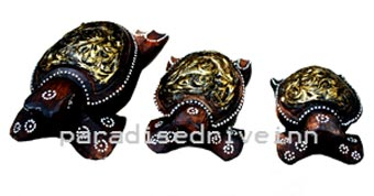 Bali Set of 3 Turtle Ashtray