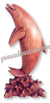 Bali Dolphin - Hibiscus wood