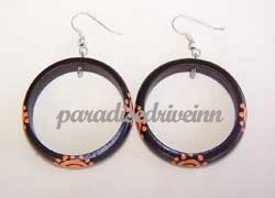 Bali Earring Sono wood painted