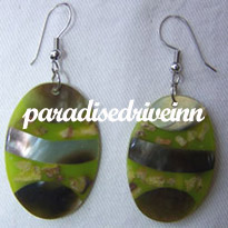 Bali Earring Inlaid with Paua Shell