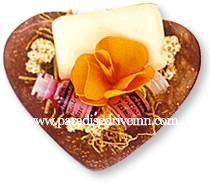 Bali 1 soap, 2 oils dried flowers, coconut bowl