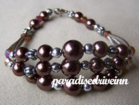 Bali Glass Beads Bracelet