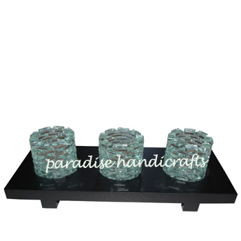 Bali Glass candle holder