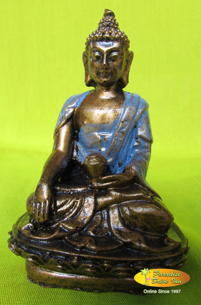 Bali Sitting buddha on lotus, resin