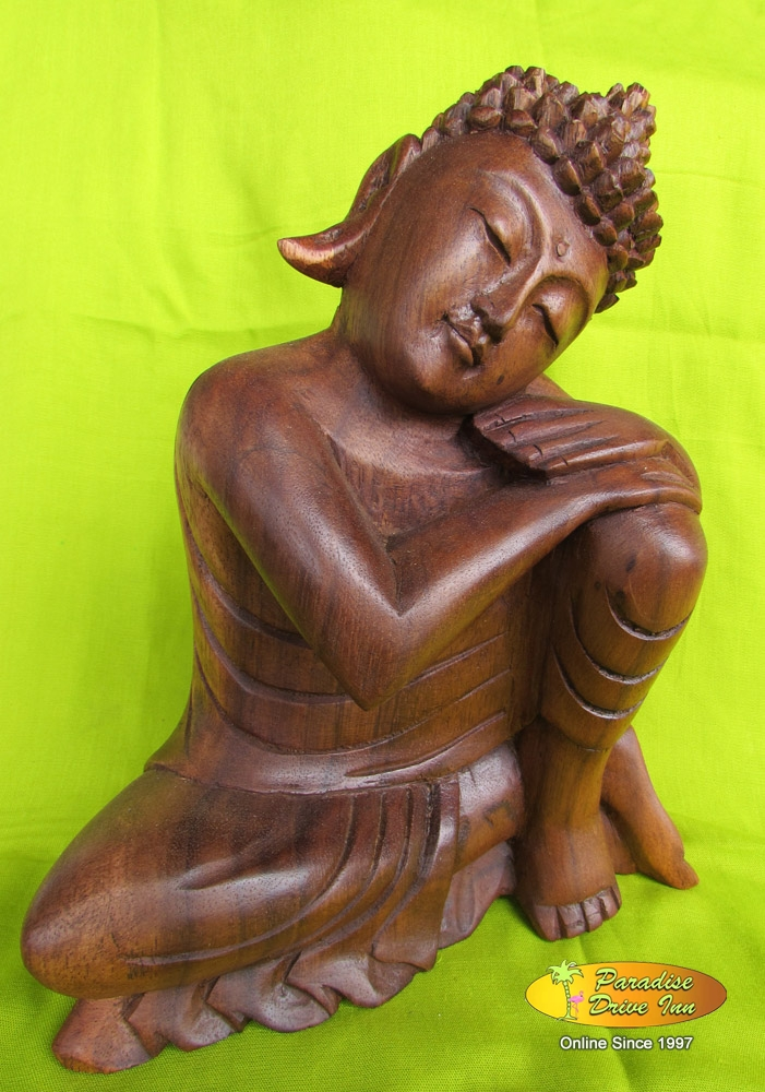 Bali Wood carving, lazy buddha, soar wood