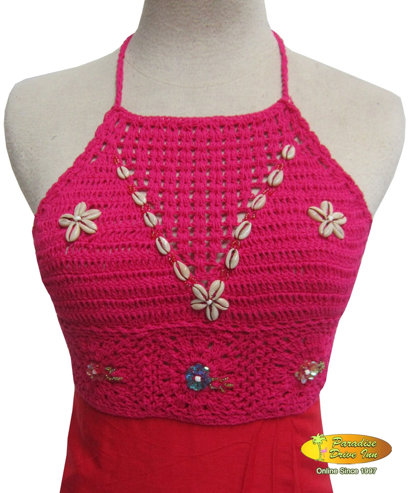 Bali Crochet top with shell