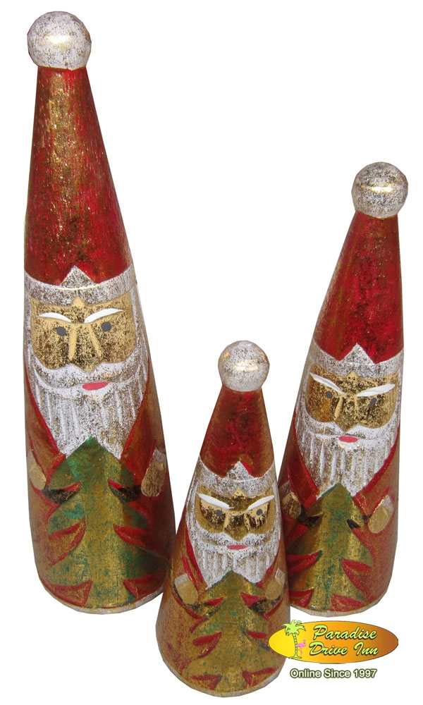 Bali Set of 3 Santa Claus