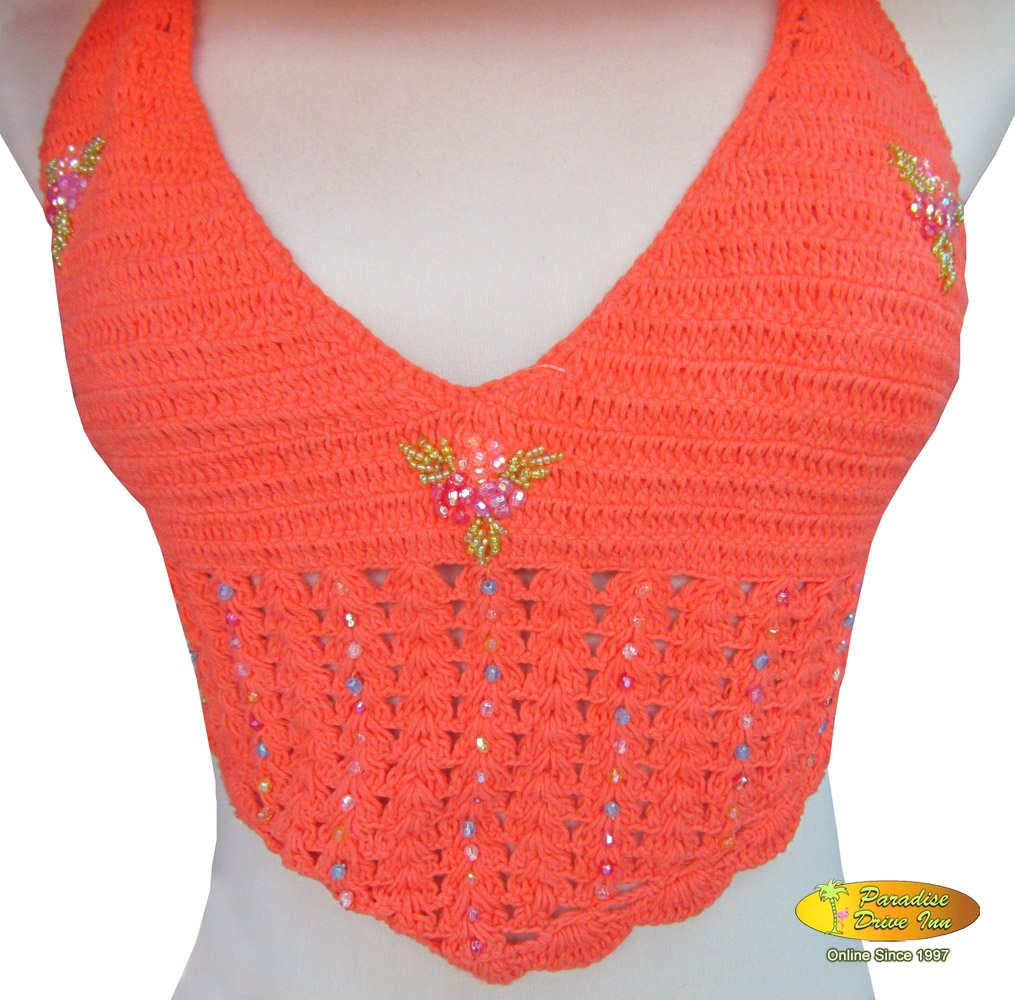 Bali Crochet, top with sequins