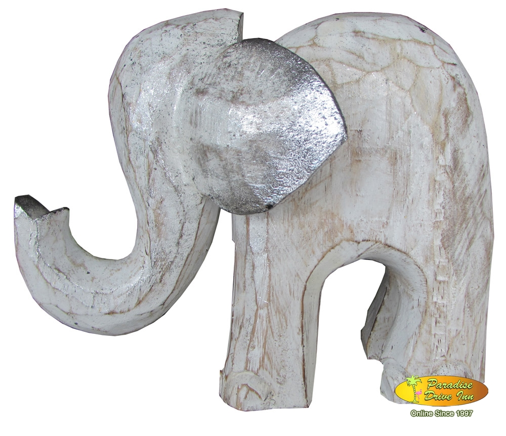Bali Wooden elephant, handcarved & painting