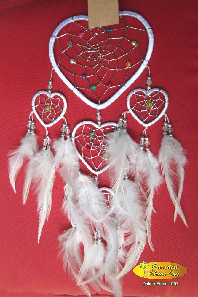 Bali Dream catcher, nylon string, beads