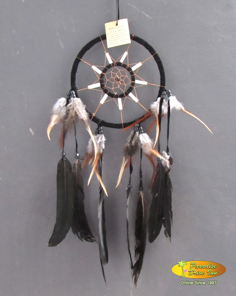 Bali Dreamcatcher, suede leather with bone & beads