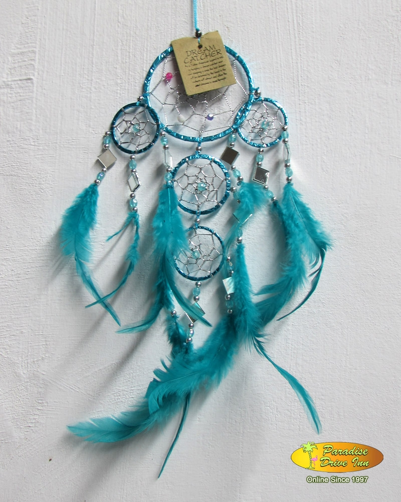 Bali Dreamcatcher, color paper, with silver thread & beads