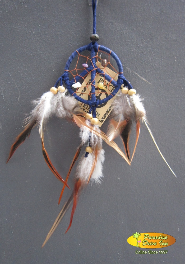 Bali Dreamcatcher, suede leather, semi precious stone, wooden beads