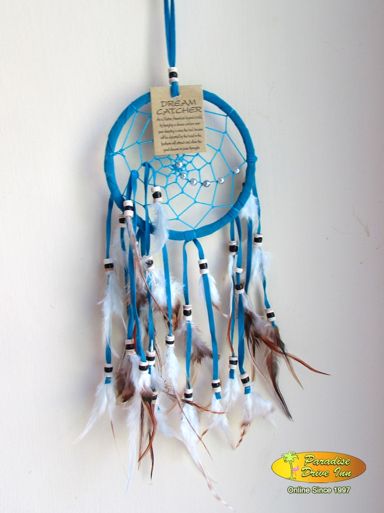 Bali Dreamcatcher, suede leather with beads