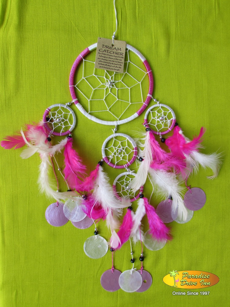 Bali Dreamcatcher, nylon string with beads & shell