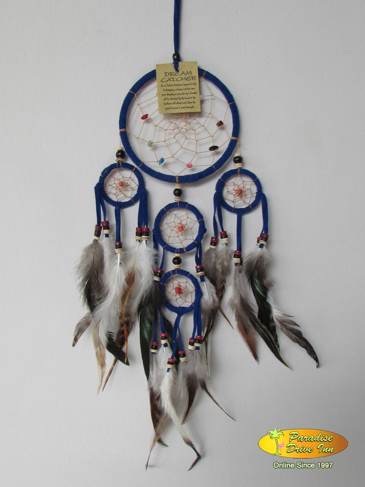 Bali Dreamcatcher, suede leather, beads