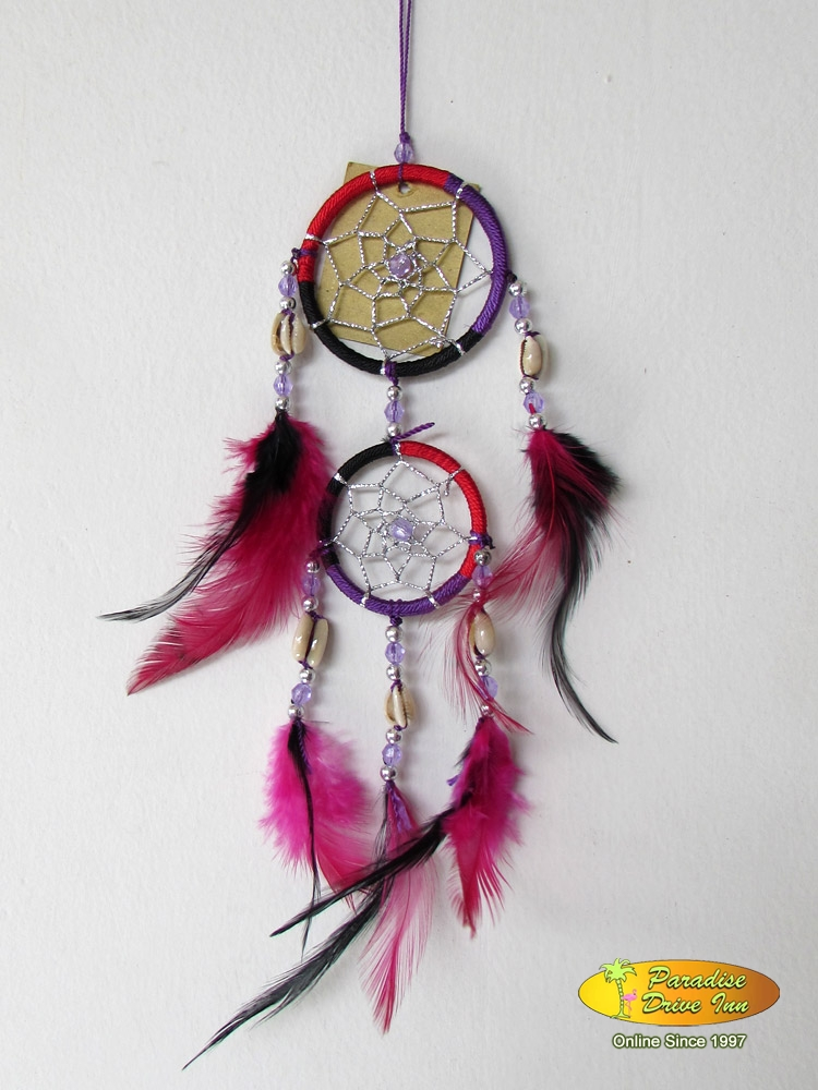 Bali Dreamcatcher, nylon string, beads