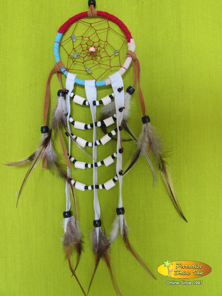 Bali Dreamcatcher, adidas with semiprecious stone, bone, beads