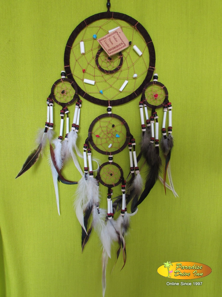 Bali Dreamcatcher, adidas with bone, semiprecious stone & beads