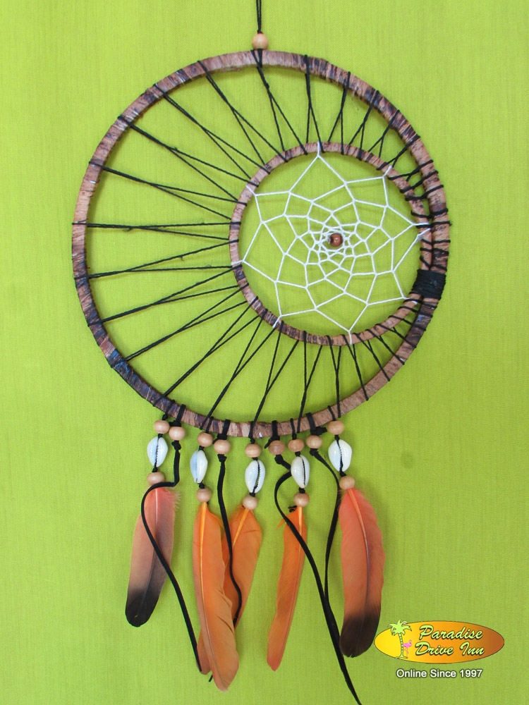 Bali Dreamcatcher, shell with beads