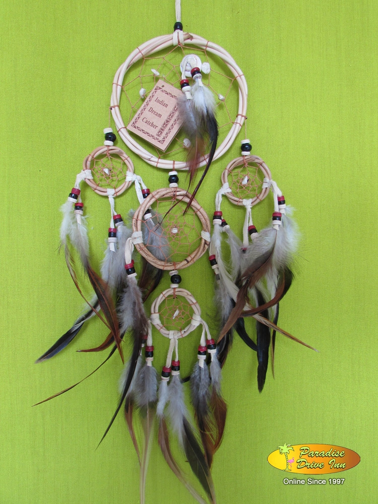 Bali Dreamcatcher, rattan with beads