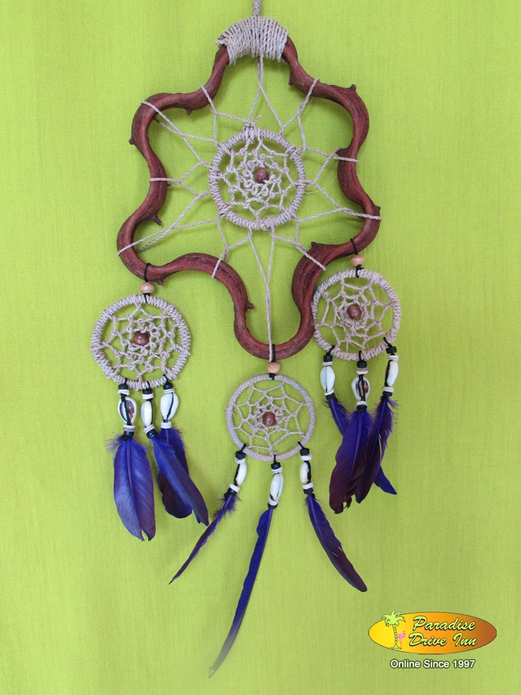 Bali Dreamcatcher, rattan with kobel, shell & beads