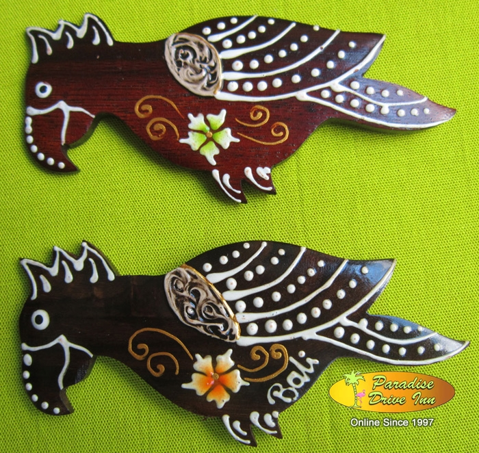 Bali Assortment of 100 parrot fridge magnets