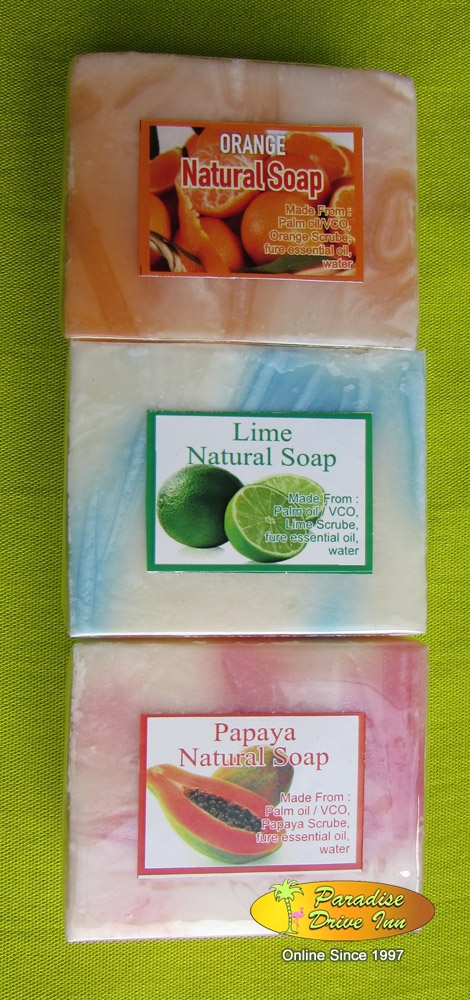Bali Spa accesories, 3 soaps