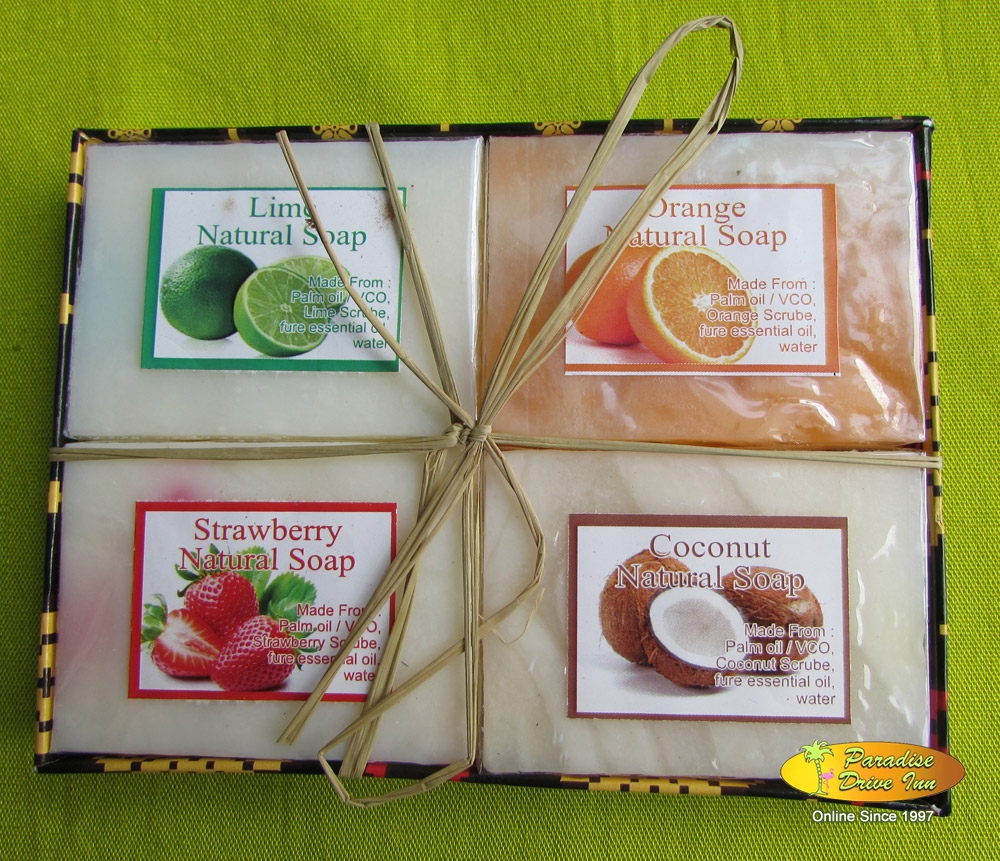 Bali Spa accesories, 4 soaps