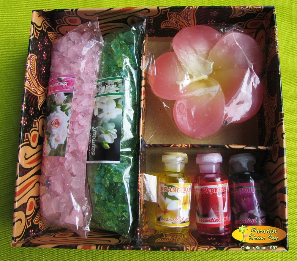 Bali Spa accesories, bath salt oil