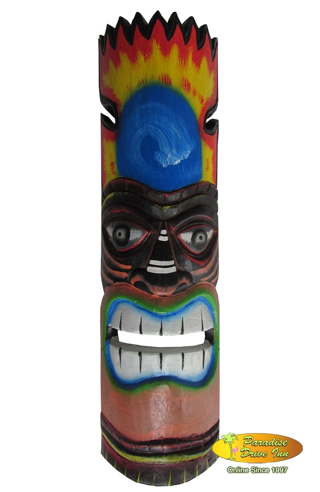 Bali Wooden mask, hand carving & painting.