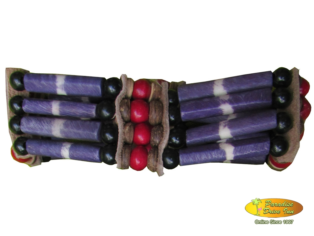 Bali Elastic bracelet, 4 lines bone with beads
