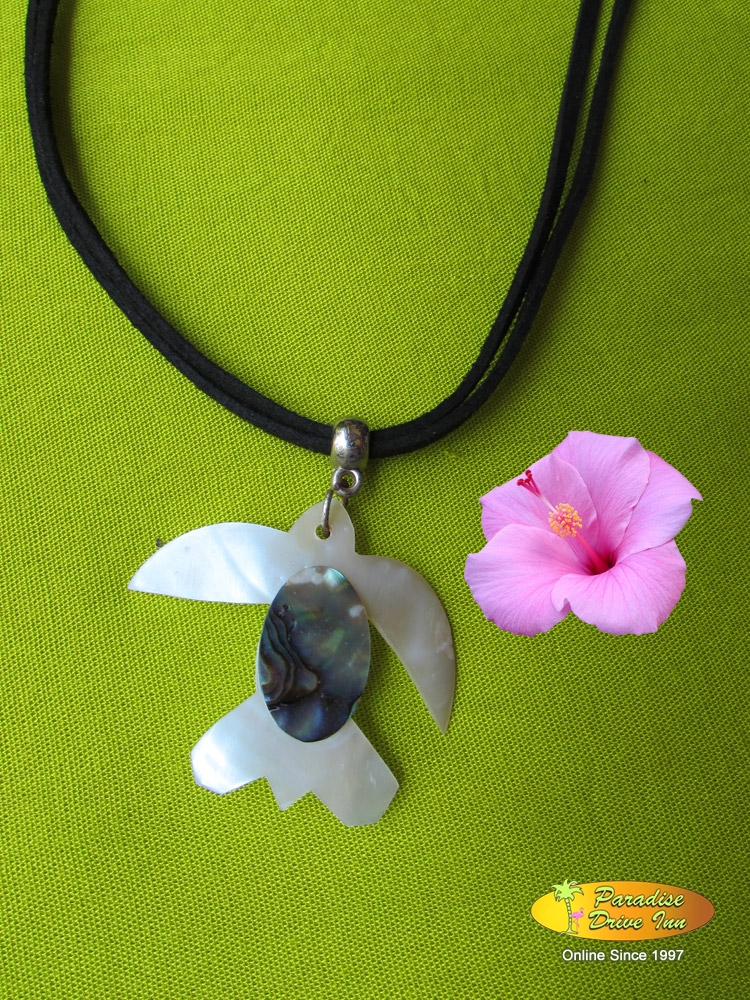 Bali Shell necklace, turtle