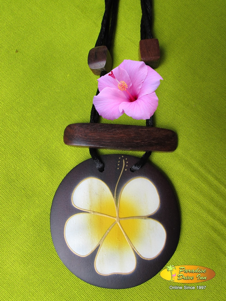 Bali Necklace, sono wood, hand painting