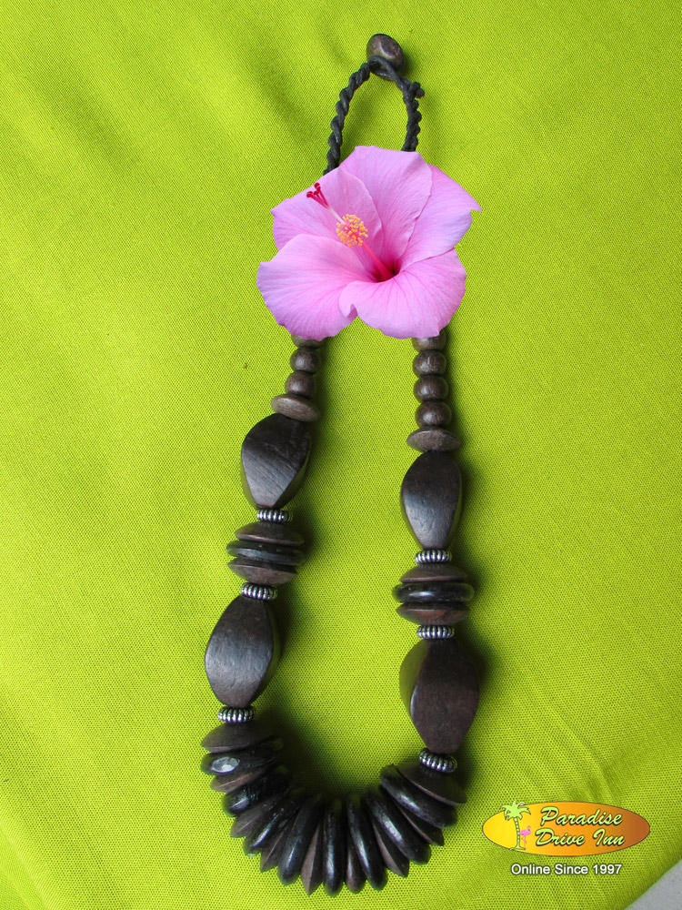 Bali Necklace, sono wood