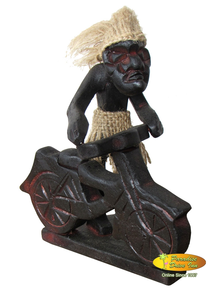 Bali Tribal man, antique wooden carved, handmade