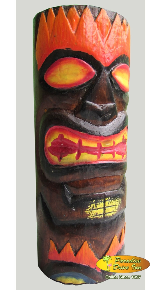 Bali Wooden totem, handcarving & painting