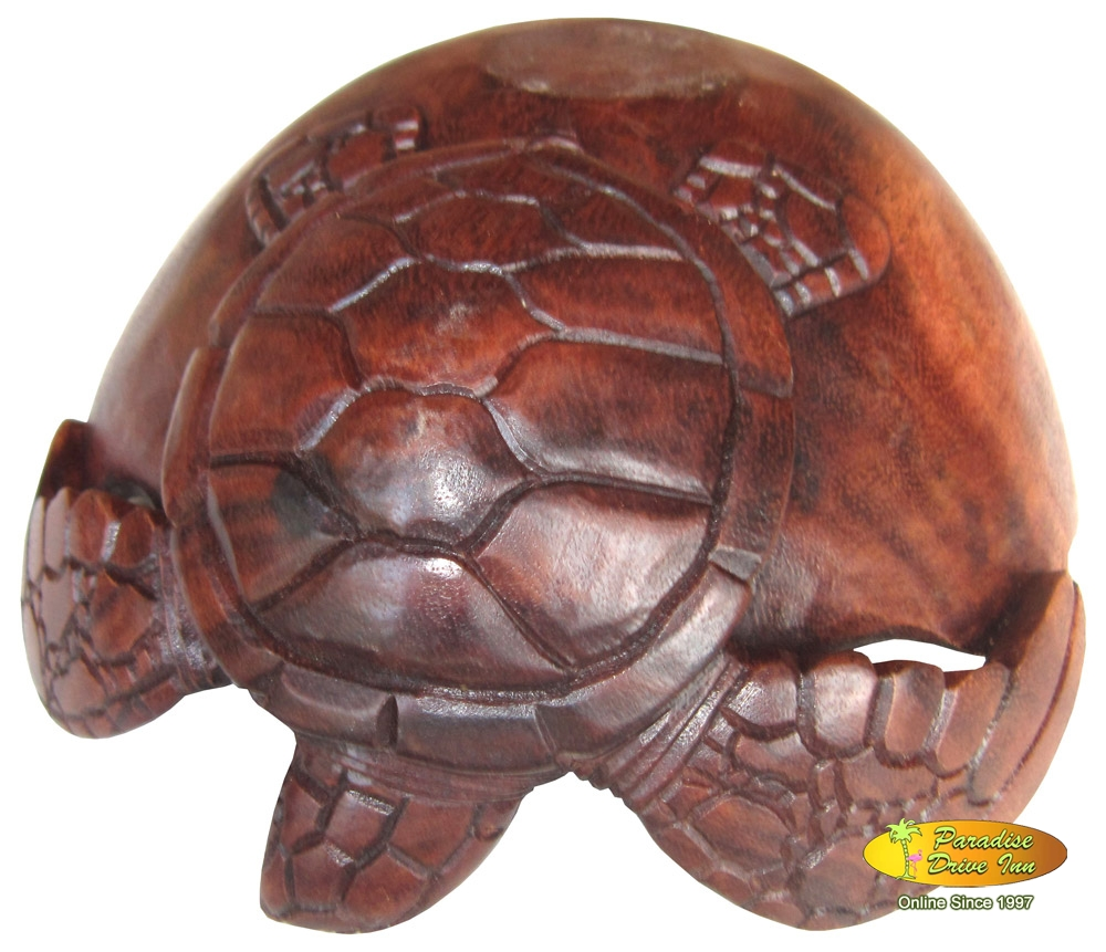 Bali Turtle bowl woodcarving