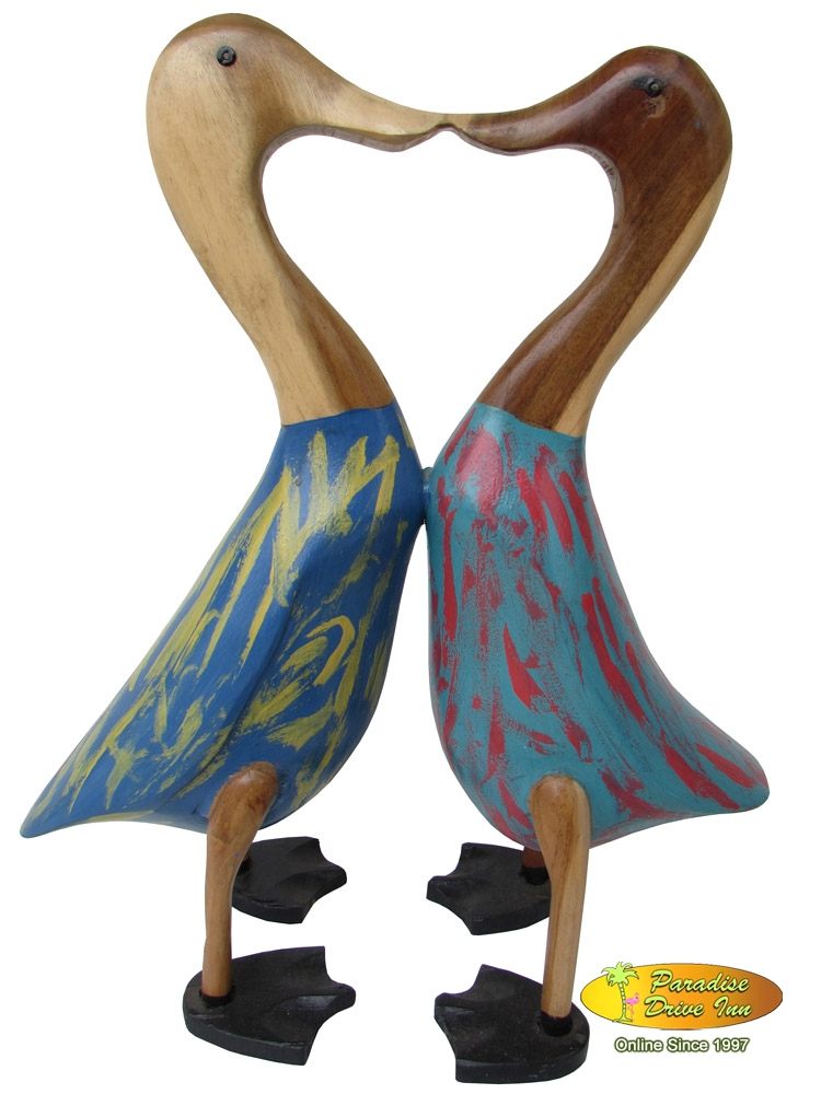 Bali Couple duck, wooden hand made