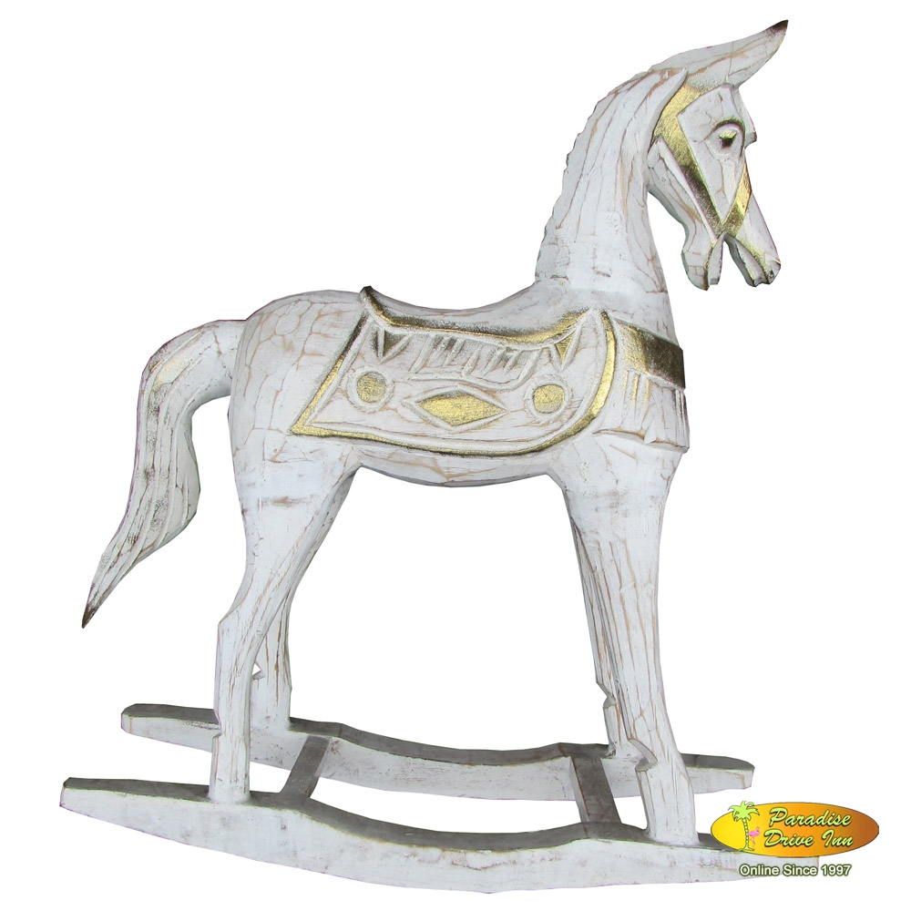 Bali Wooden horse, handcarved & painting