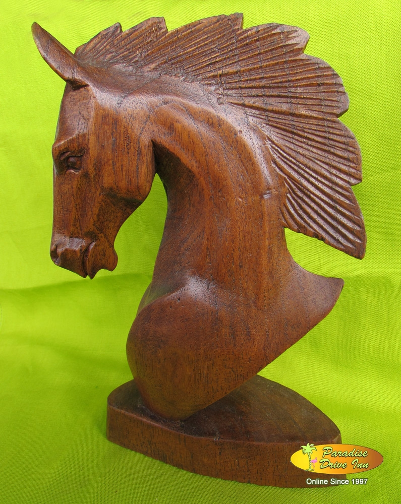 Bali Wood carving, horse head