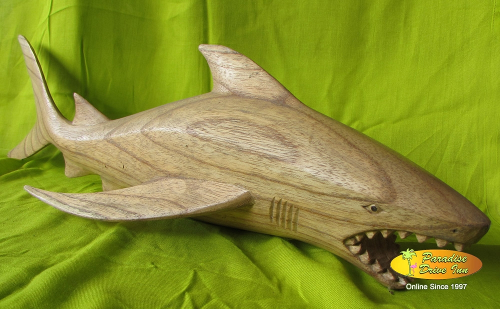 Bali Wood carving, shark