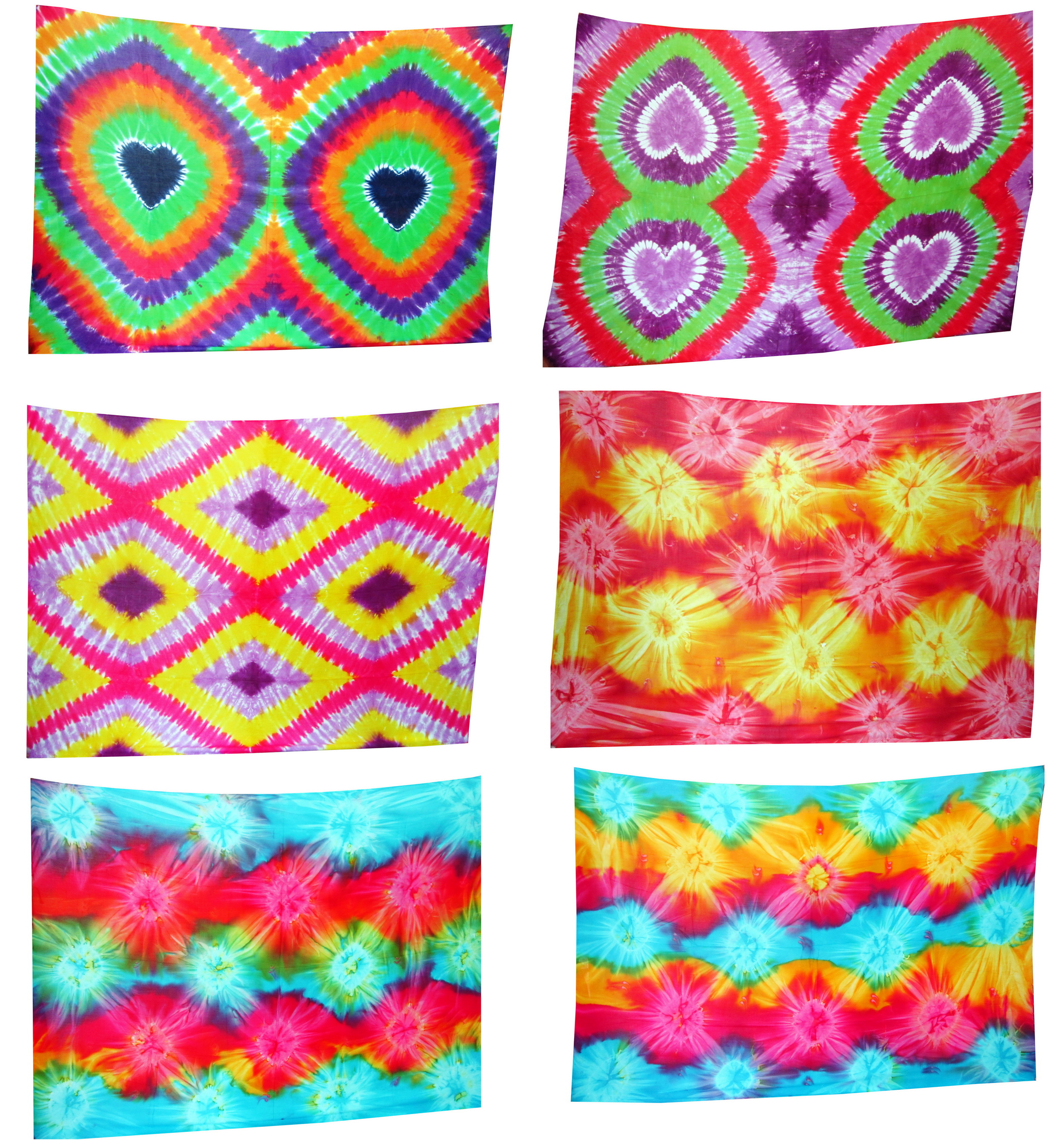 Bali Tie Dye - Assortment of 50 Sarongs